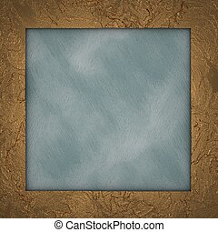 Gold frame with abstract blue background