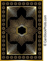 Gold frame with calligraphic orname