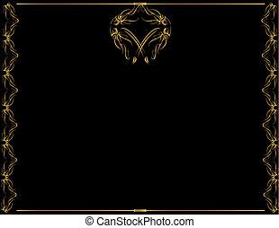 Gold frame with center design