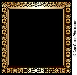 Gold Frame Clipart Vector Graphics 100694 Gold Frame Eps Clip Art