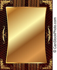 Gold frame with pattern 11