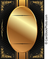 Gold frame with pattern 12