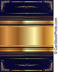 Gold frame with pattern 14