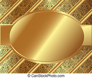 Gold frame with pattern 8
