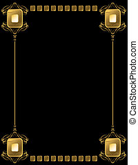 Gold frame with rectangles