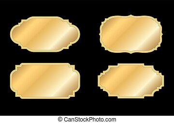 Gold frames simple style