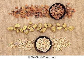 Gold Frankincense and Myrrh - Gold, frankincense and myrrh...