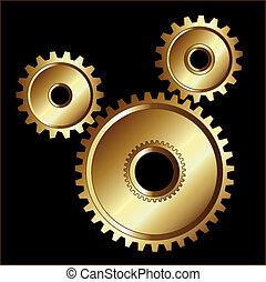 Gold gears design