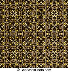 Gold geometric seamless editable pattern