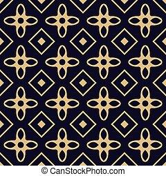 Gold geometric seamless pattern