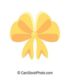 Gold gift bow vector design