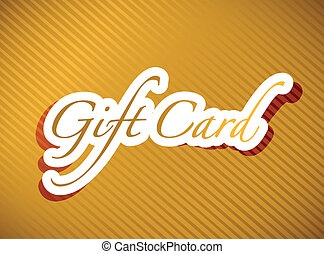 gold gift card illustration design background