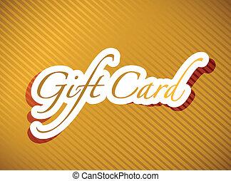 gold gift card illustration design background