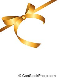 Gold Gift Ribbon. Vector illustration