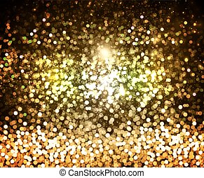 gold glitter and glare