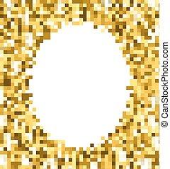 Gold glitter background.