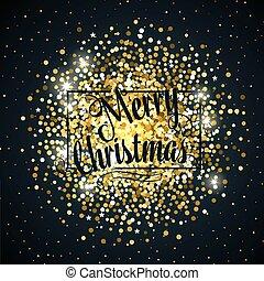 Gold glitter christmas background design.