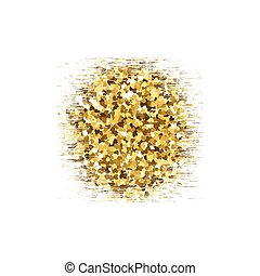 Gold glitter circle texture isolated on background. Vector illustration.