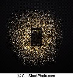 gold glitter explosion shiny sparkles confetti background