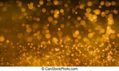 Gold shine glitter glamour background Bokeh 4K