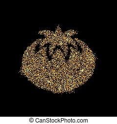 Gold glitter icon
