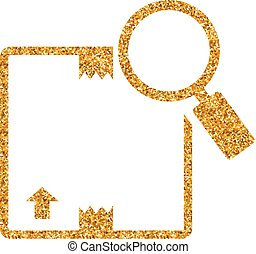 Gold Glitter Icon - Parcel tracking - Parcel tracking icon ...