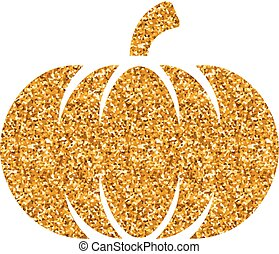Gold Glitter Icon - Pumpkin
