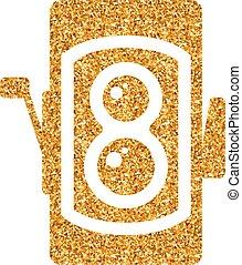 Gold Glitter Icon - TLR camera - Twin lens reflex camera ...
