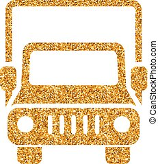 Gold Glitter Icon - Truck