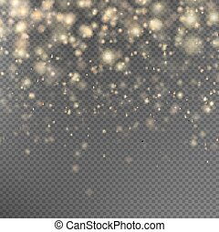 Gold glitter particles effect. EPS 10