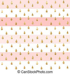 Gold glitter seamless pattern, striped background