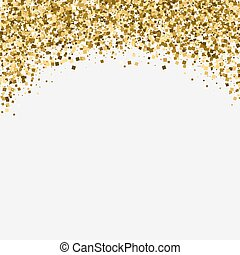 Gold glitter shimmery heading. Invitation card or flyer with...