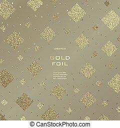 Gold, Glitter, Sparkles Design Template for Brochures,...
