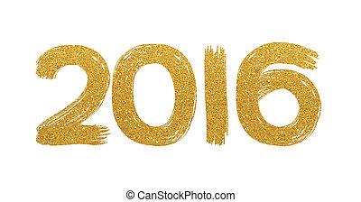 Gold glitter text 2106