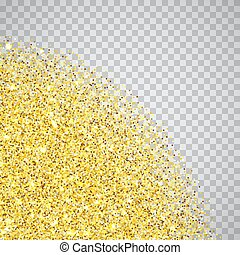 Gold glitter textured border - Gold glitter corners texture...
