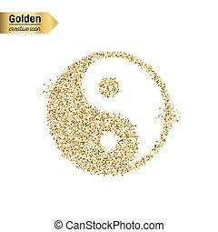 Gold glitter vector object