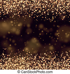 gold glittering bokeh abstract back