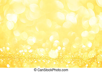 Gold glittering christmas lights