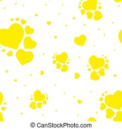 Gold glittering foil seamless pattern background with hearts