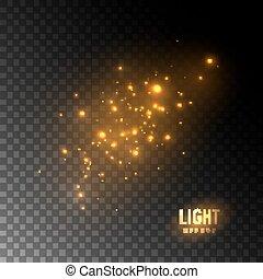Gold glittering star dust - Golden glittering sparkles ...