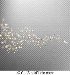 Gold glittering star dust trail. EPS 10 - Gold glittering...