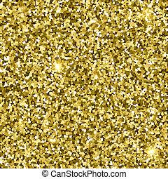 Gold glittery texture. Sparkle golden vector background