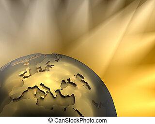Gold Globe Close-up, Europe