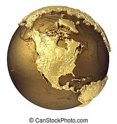 Gold Globe North America