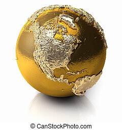 Gold Globe - North America