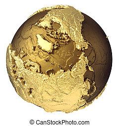 Gold Globe North Pole