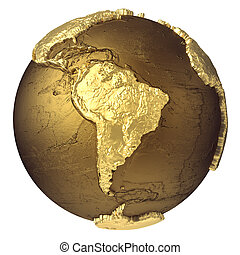 Gold Globe South America