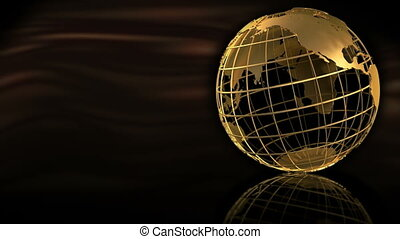 Gold Globe Spin - 1080p HD Stock Video of a Globe spinning...