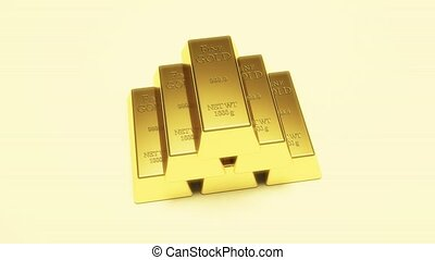 Gold. Gold currency reserves. Ingot. - Gold. Gold currency...