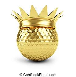 gold golf ball  gold crown